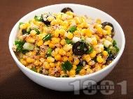 Рецепта Салата от царевица и риба тон